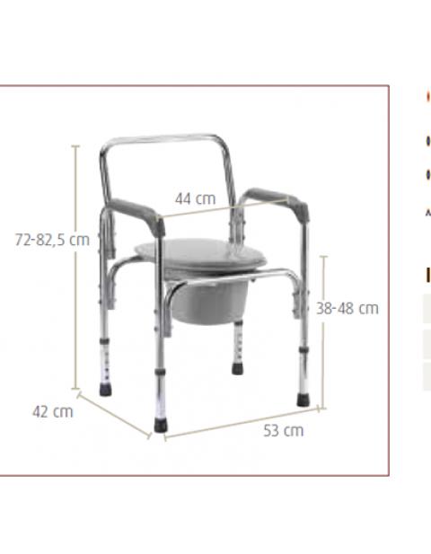 Cadeira sanitária de alumínio